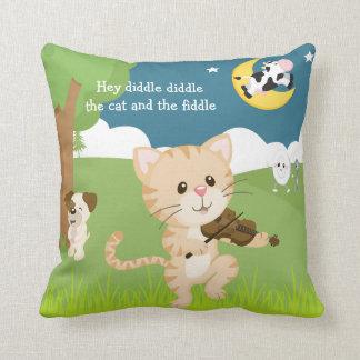 Hey Diddle Diddle Nursery Rhyme Throw Cushions