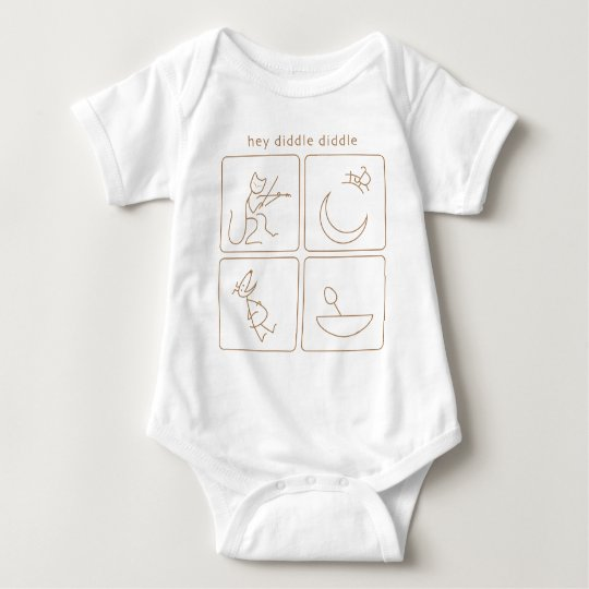 Hey Diddle Diddle onesy Baby Bodysuit