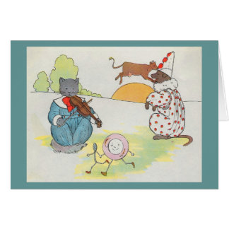 Hey diddle diddle The cat and the fiddle Greeting Cards