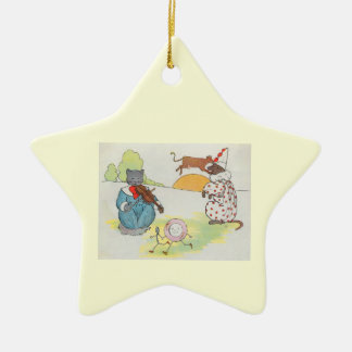 Hey, diddle, diddle!  The cat and the fiddle Ceramic Star Decoration