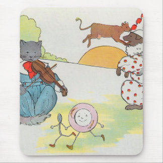 Hey diddle diddle The cat and the fiddle Mousepads