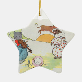 Hey diddle diddle The cat and the fiddle Christmas Ornament