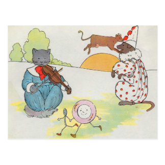 Hey, diddle, diddle!  The cat and the fiddle Postcard