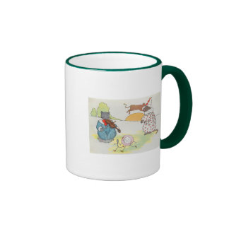 Hey, diddle, diddle!  The cat and the fiddle Ringer Mug