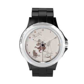 Hey Diddle Diddle Vintage Illustration Wrist Watches