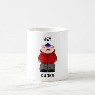 'Hey Dude' Preston Pig Hoodie Boy Mug