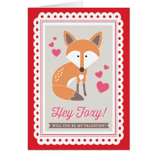 Hey Foxy! by Origami Prints Valentine Folded Card