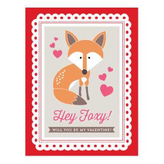 Hey Foxy! by Origami Prints Valentine Postcard