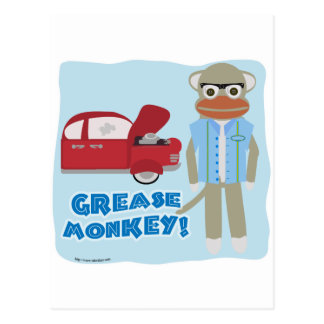 Hey Grease Monkey Postcard