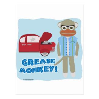 Hey Grease Monkey Postcard
