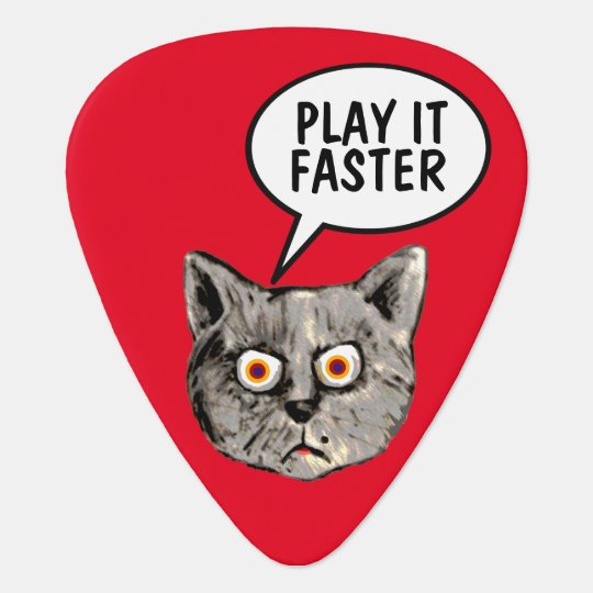 hey guitar-player play it faster plectrum