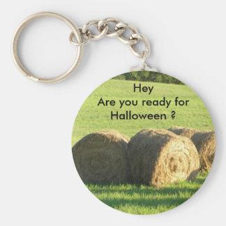 Hey Hay Ready for Halloween?  Key Chain