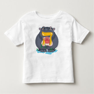 Hey Hebrew Aleph Bet (Alphabet) Hippo T-Shirt