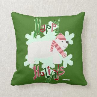 Hey Holiday Polar Bear Cushion