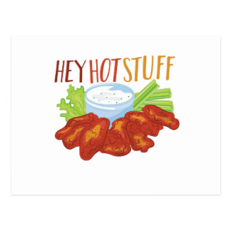 Hey Hot Stuff Postcard
