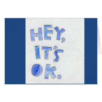 """HEY, IT'S OKAY """"50"""" IS NOT THAT BAD=HAPPY BIRTHDAY GREETING CARD"""