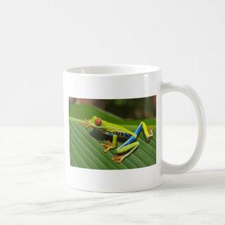 hey little green frog coffee mug