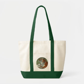 Hey Mom Wake Up! Tiger cub and mother bag