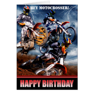 Hey Motocrosser! Greeting Card