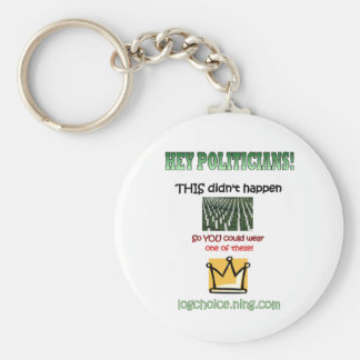 Hey Politicians! Basic Round Button Key Ring
