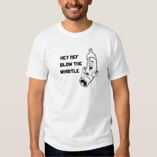 Hey Ref, Blow the Whistle Sports Cartoon Tshirts