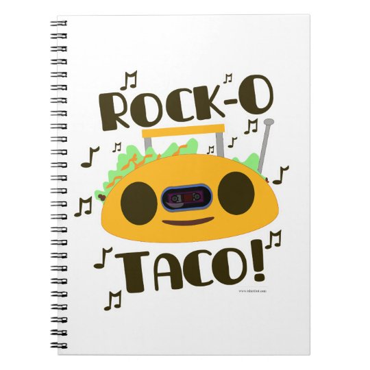 Hey Rock-O Taco Spiral Notebook