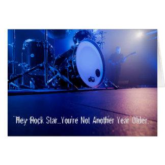 Hey Rock Star Musician Birthday Card