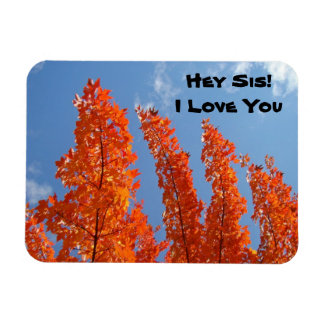Hey Sis! I Love You flexible magnets Autumn Trees