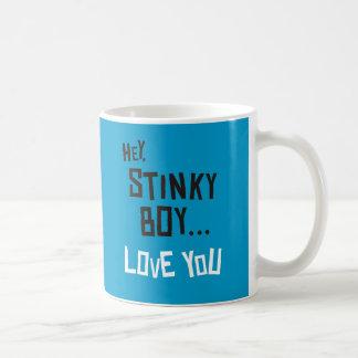 Hey, Stinky Boy, Love You Basic White Mug