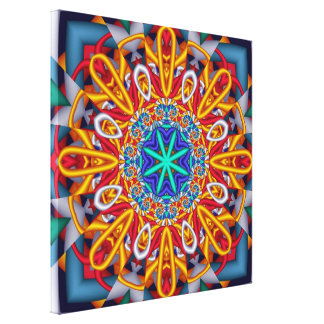 Hey Sunshine! Artistic abstract wallart Stretched Canvas Prints