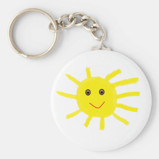Hey Sunshine Basic Round Button Key Ring
