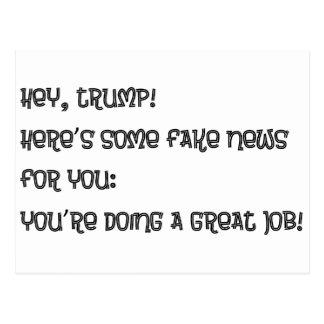 Hey Trump Postcard