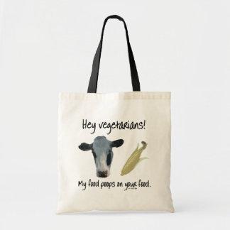Hey Vegetarians! Canvas Bag