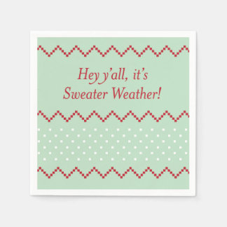 Hey Y'all Sweater Weather Napkins Disposable Serviettes