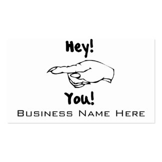 Hey! You! Double-Sided Standard Business Cards (Pack Of 100)
