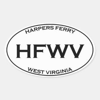 HFWV - Harpers Ferry West Virginia Oval Sticker