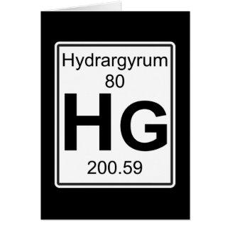 Hg - Hydrargyrum Greeting Card