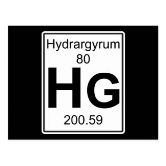Hg - Hydrargyrum Postcard