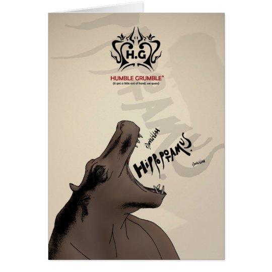 HG . the hippo operatic society Card