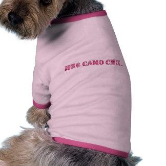 HH6 Camo Chix™ Doggie Ringer T-Shirt Ringer Dog Shirt