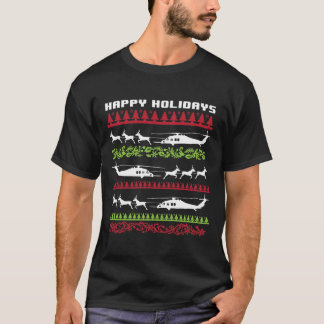 HH-60 Air Force Pave Hawk Happy Holidays T-Shirt