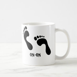 HHH On-on Foortprint Basic White Mug