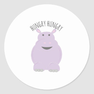 Hhungry Hippo Round Sticker
