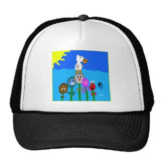 HI54ECO Fishy Flowers Trucker Hat