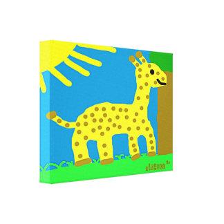 HI54ECO Safari Friends Girard Giraffe Boy Gallery Wrap Canvas