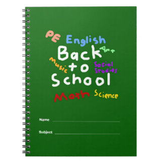 HI54EDU Back To School Spiral Notebooks