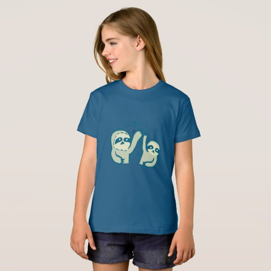 Hi5 Sloths Girls' American Apparel Organic T-Shirt