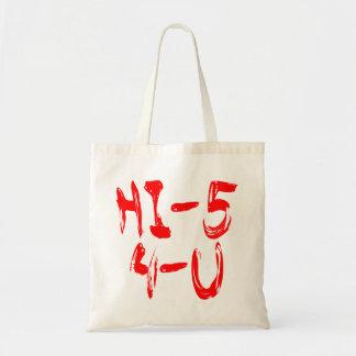 Hi 5 4u tote bags