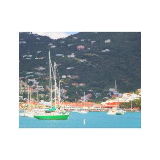Hi def photography of St. Thomas, Boats, Ocean Canvas Print