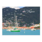 Hi def photography of St. Thomas, Boats Postcard